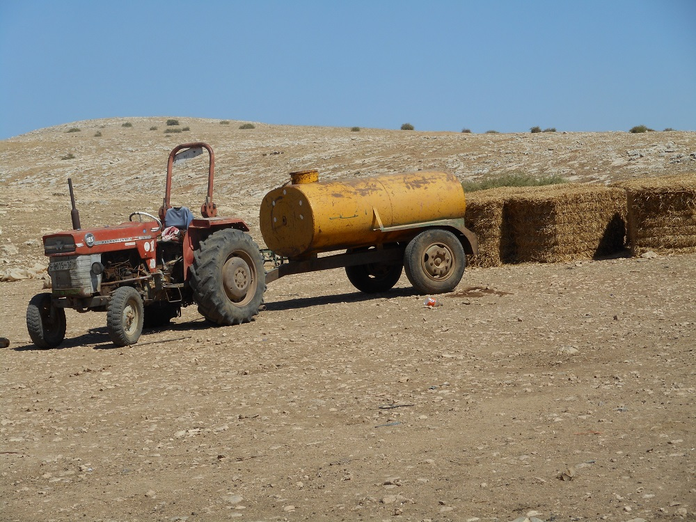 Abed`s confiscated tractor and container 6.7.16.jpg