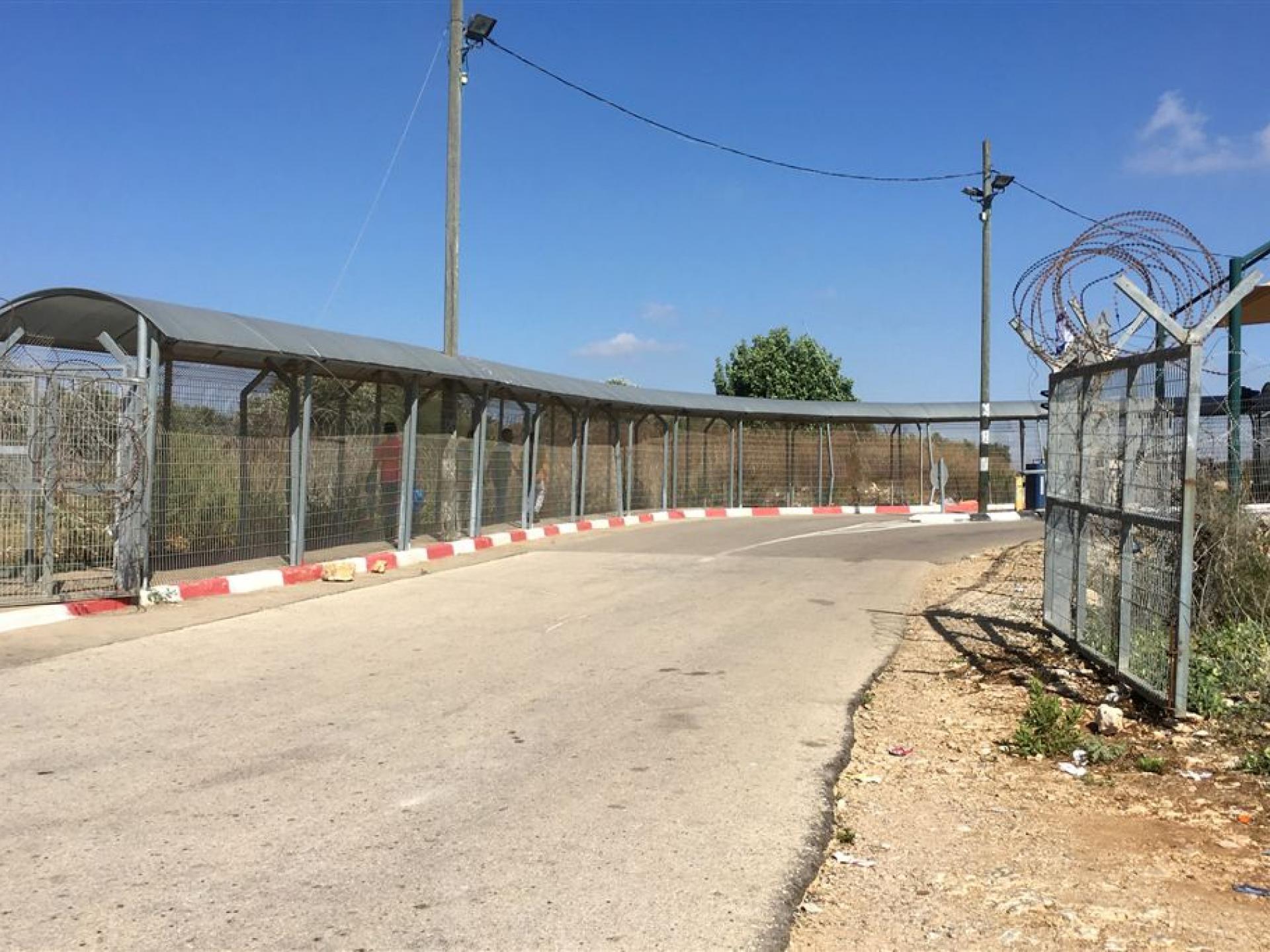 מחסום טורה: ארבעה פועלים עוברים בשרוול בשעת השיא של המחסום