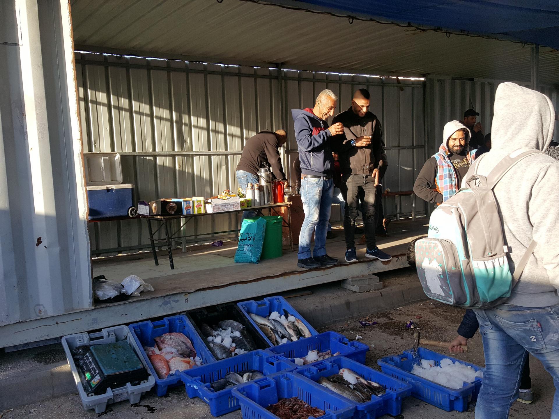 fish market at Barta`a c.p