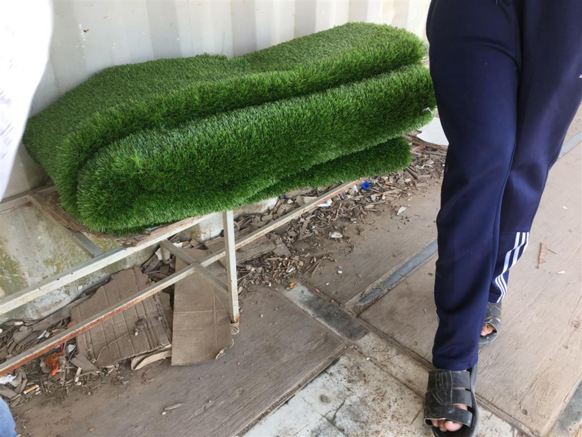 It is not allowed to bring synthetic grass to the West Bank without permission from the authorities!