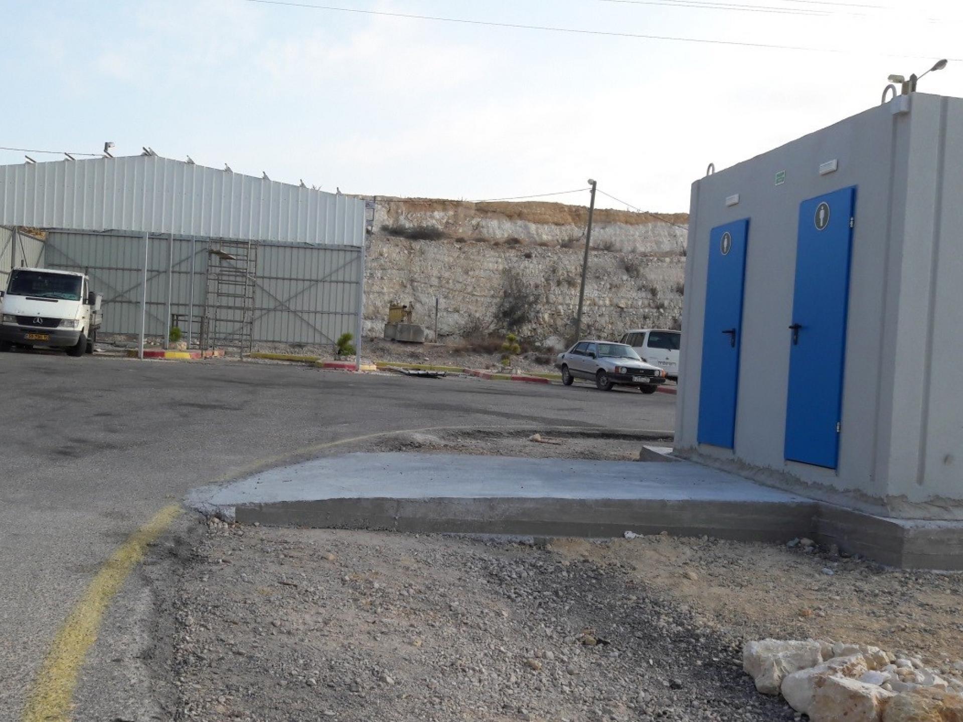 מחסום ברטעה: מבנה שירותים חדש במחסום
