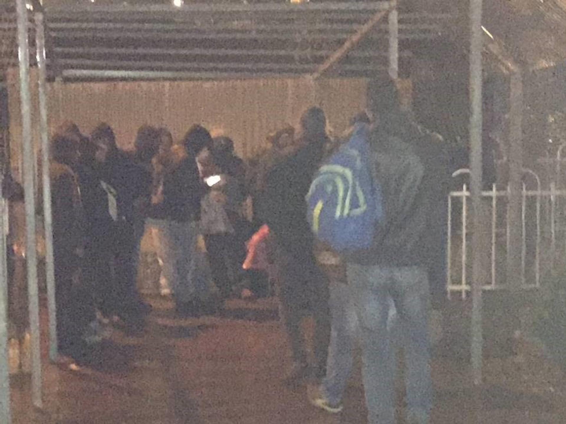 Bethlehem c.p: People hiding from the rain