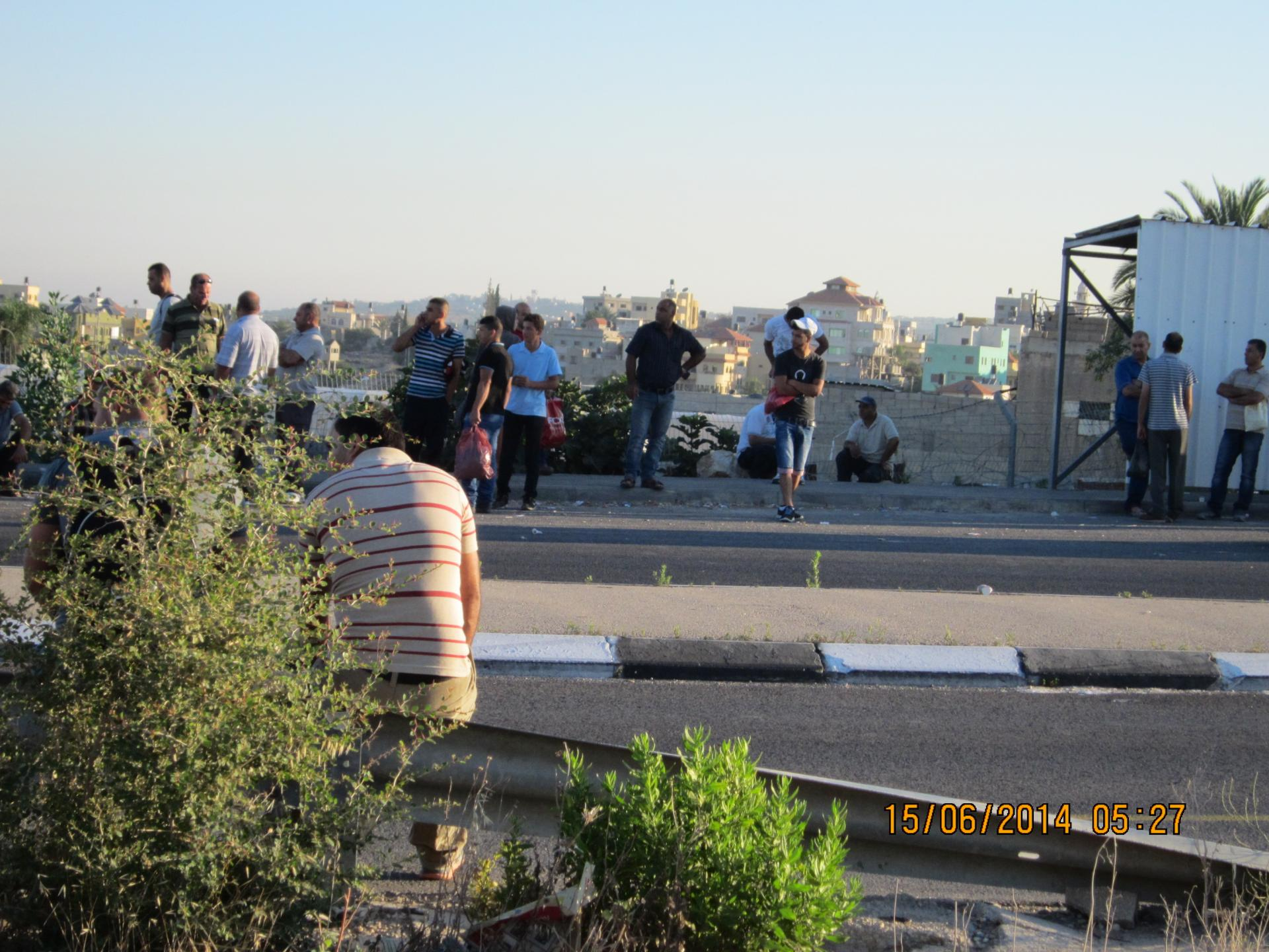 Azzun Atma checkpoint 15.06.14 מחסום עזון עתמה