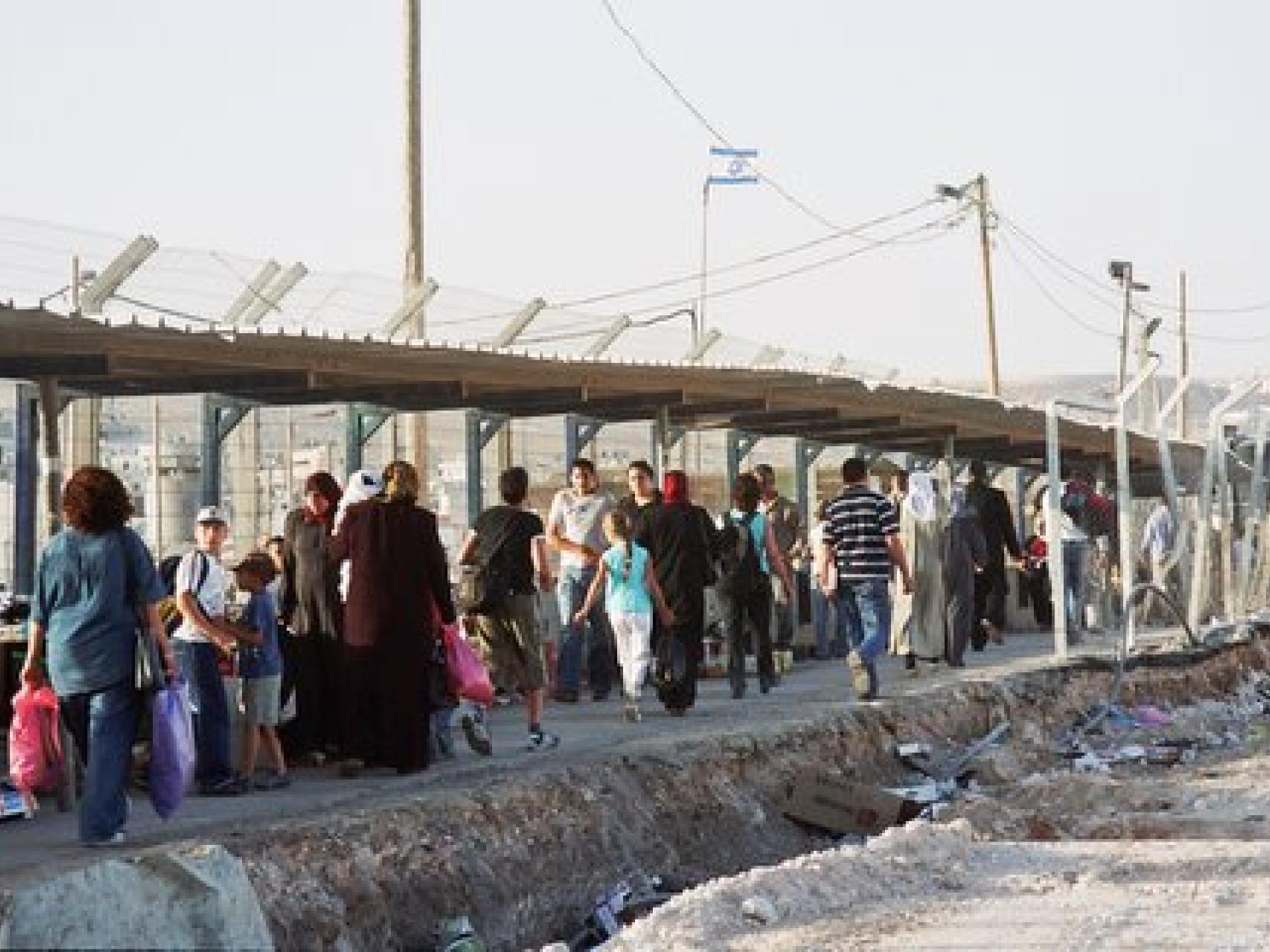 Qalandiya checkpoint 15.07.05