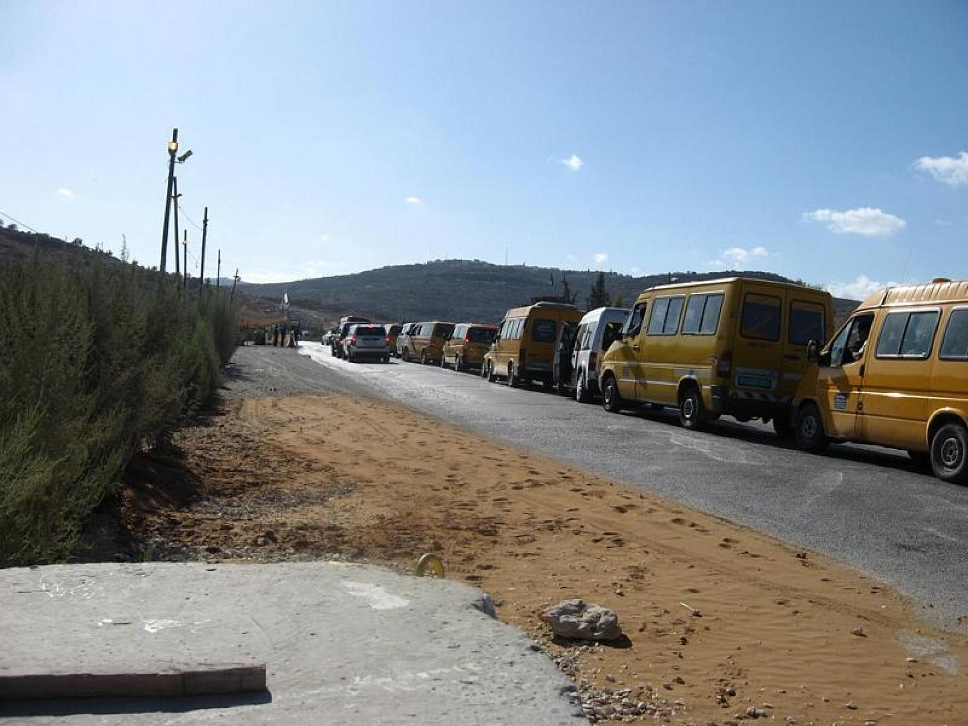 Deir Sharaf/Haviot checkpoint 22.10.09