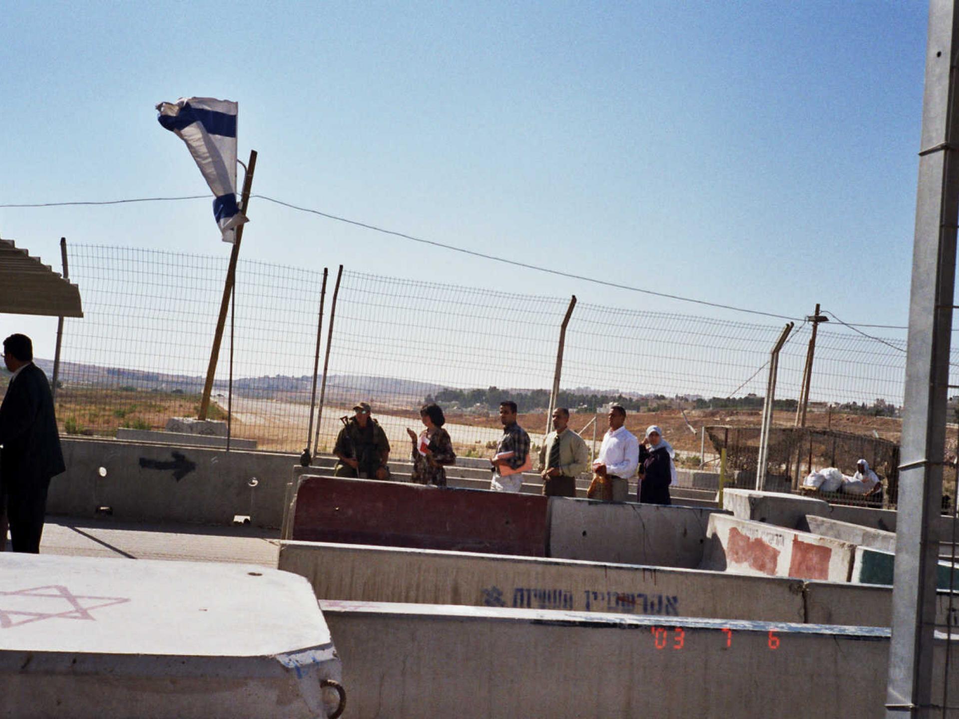 Qalandiya checkpoint 05.08.02
