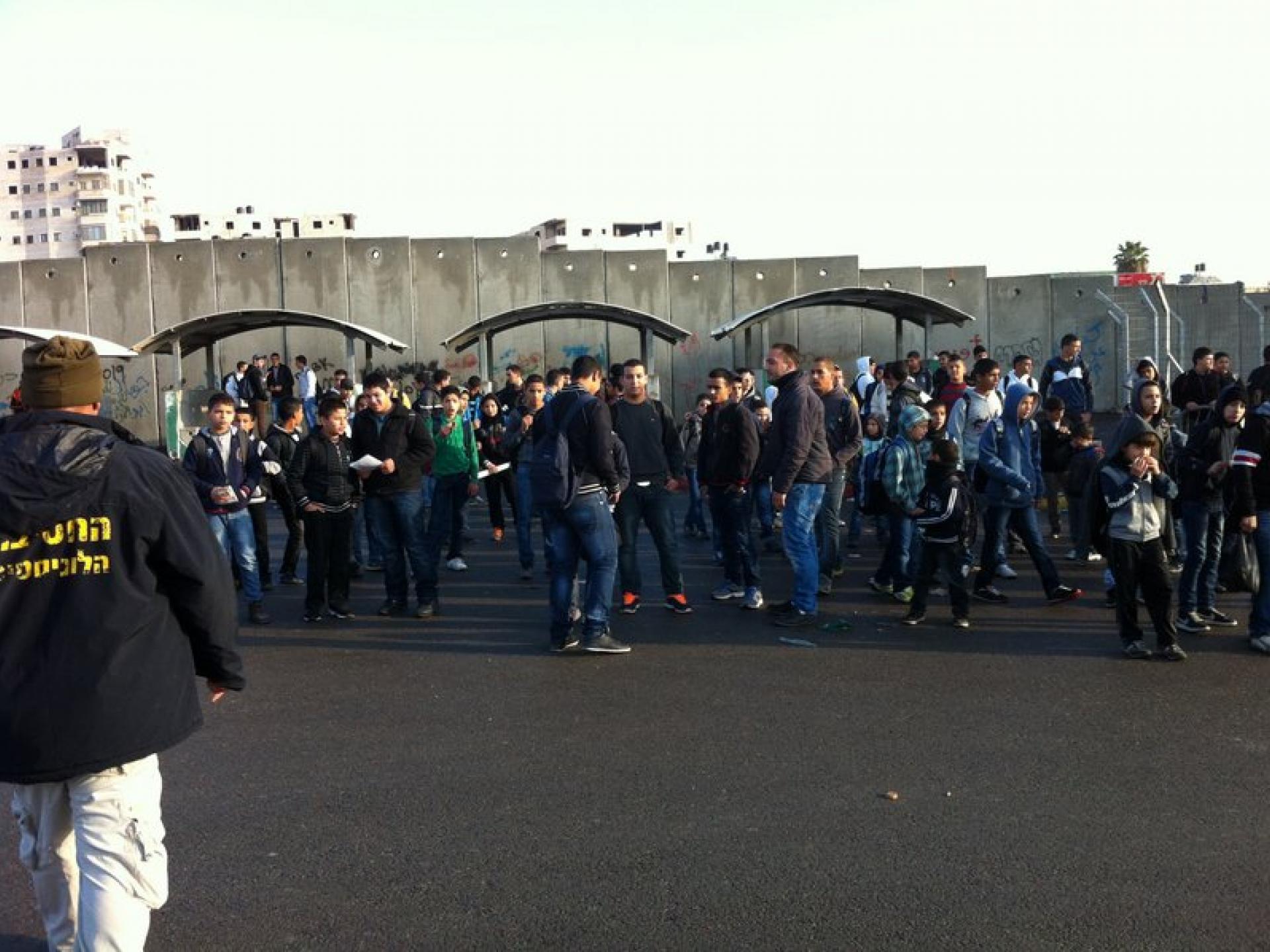 Anata/Shu'fat checkpoint 13.11.12
