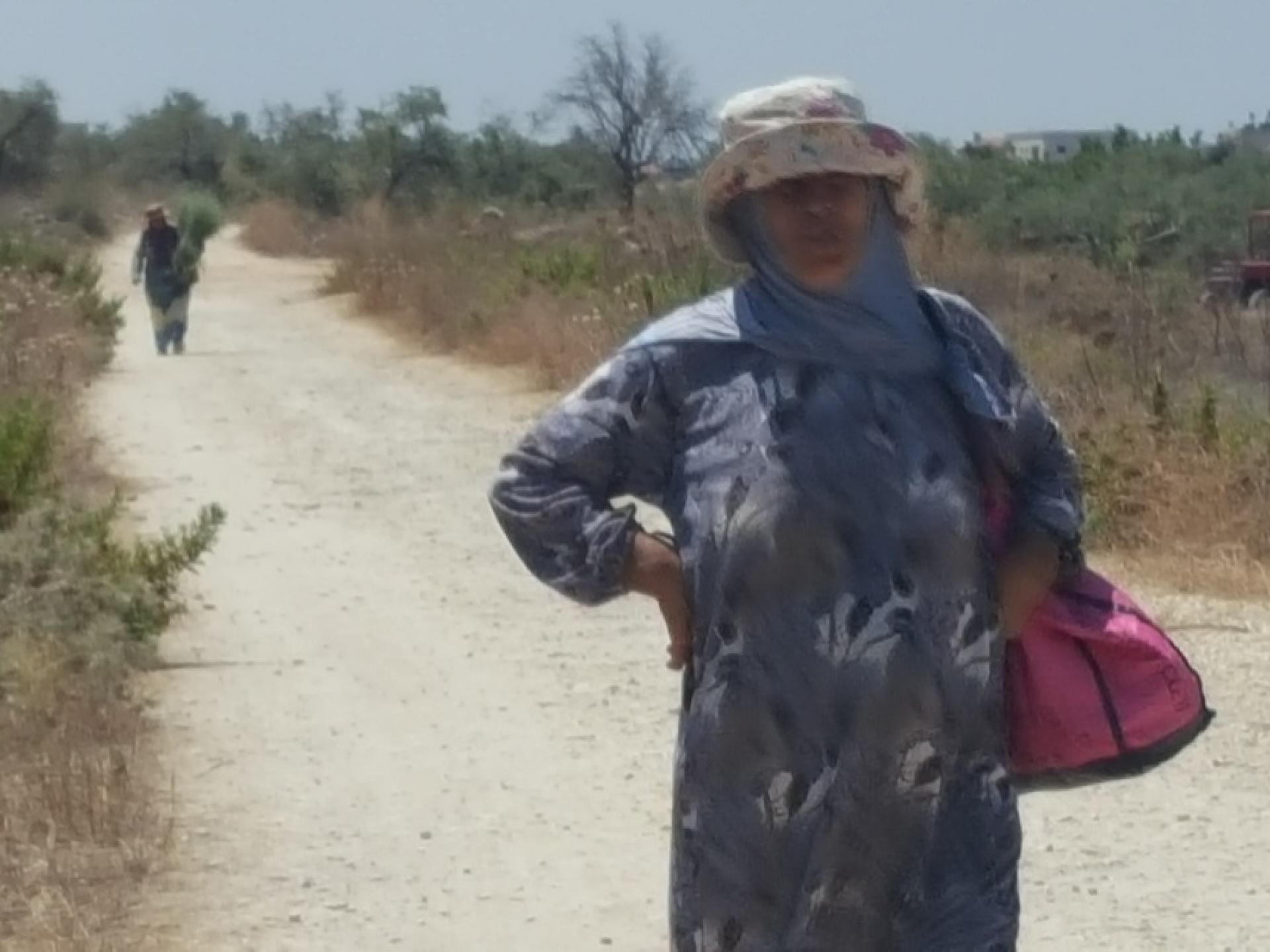 A Palestinian woman farmer