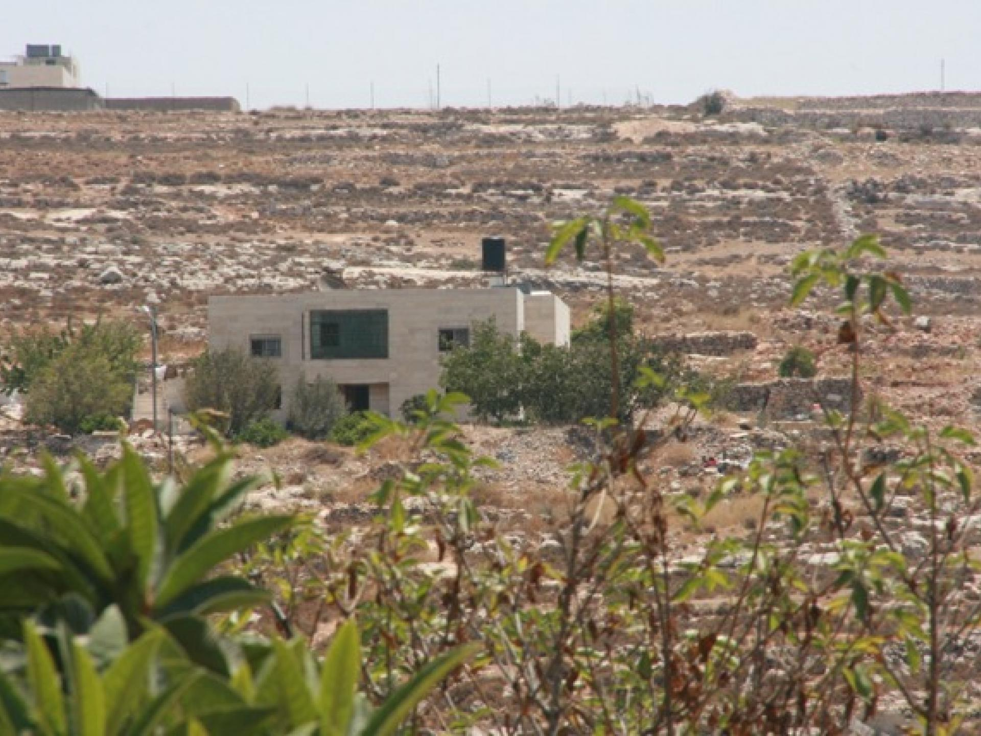 Ata Jaber's house is exposed with everything dry and destroyed