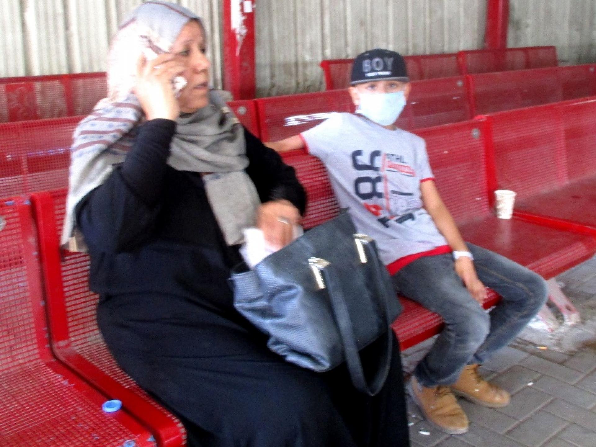 מוחמד ואמו אחרו לרכב ההסעות לעזה