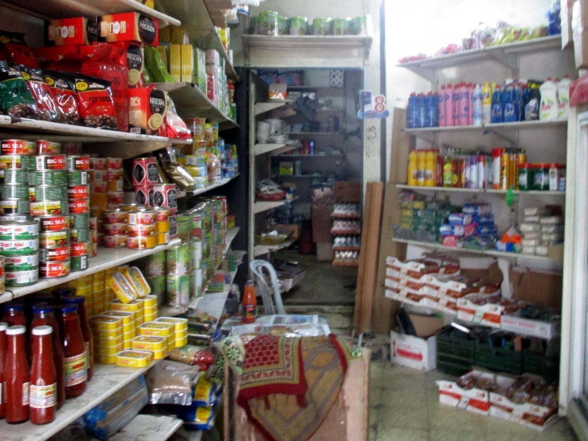 חנות המכולת שבמחנה הפליטים