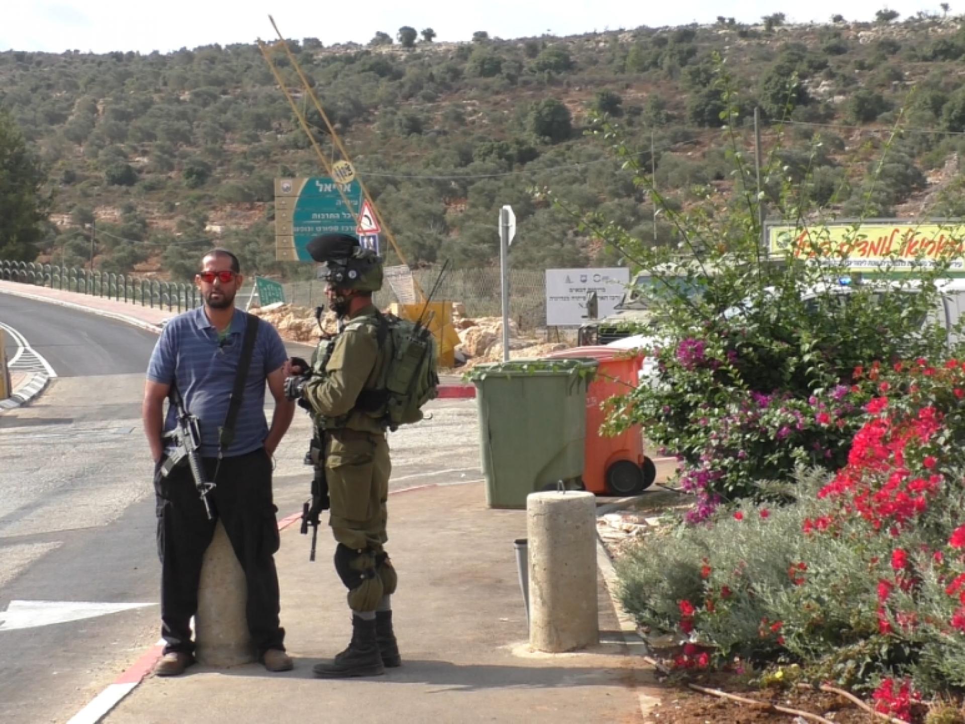 The Ariel settlement's security coordinator