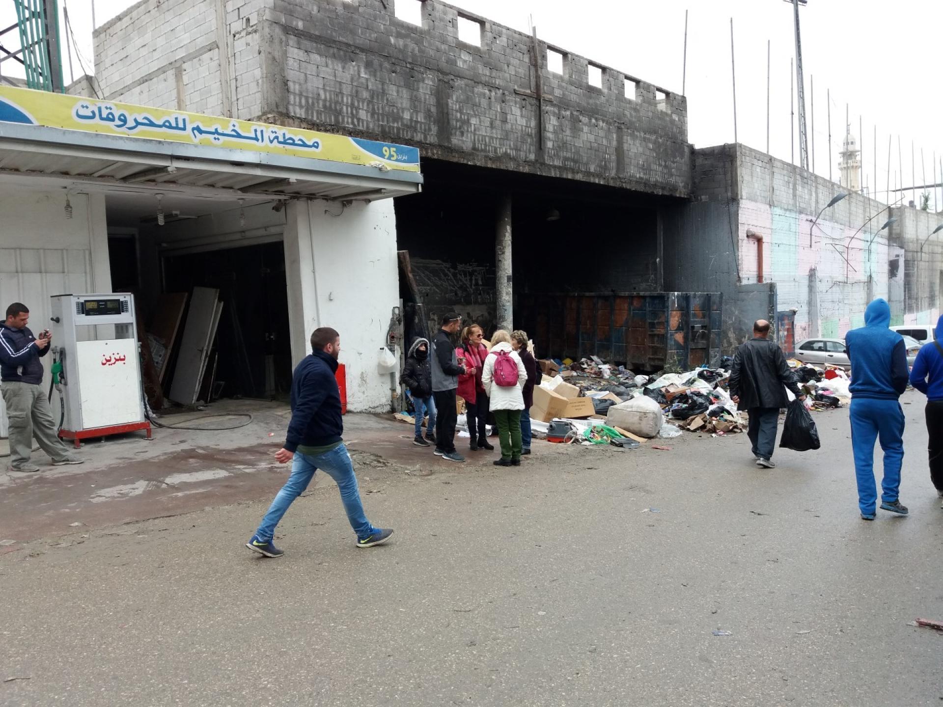 Near the garbage dump