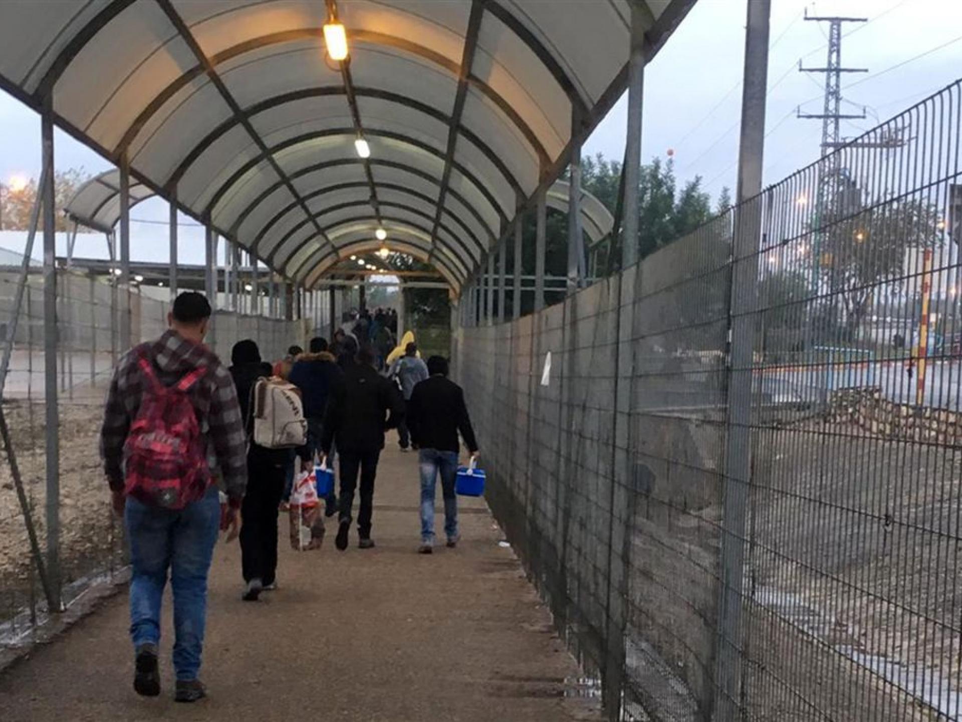 מחסום ג'למה: בדרך לעבודה בישראל