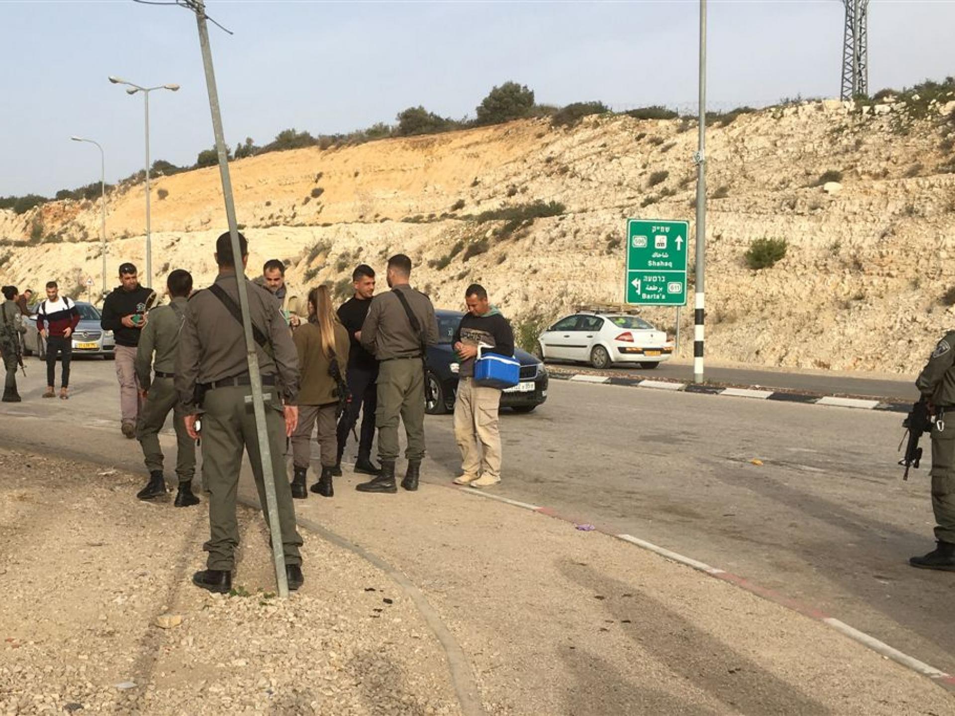 מחסום ברטעה: משמר הגבול עורך בדיקת פתע בחניון הצפוני