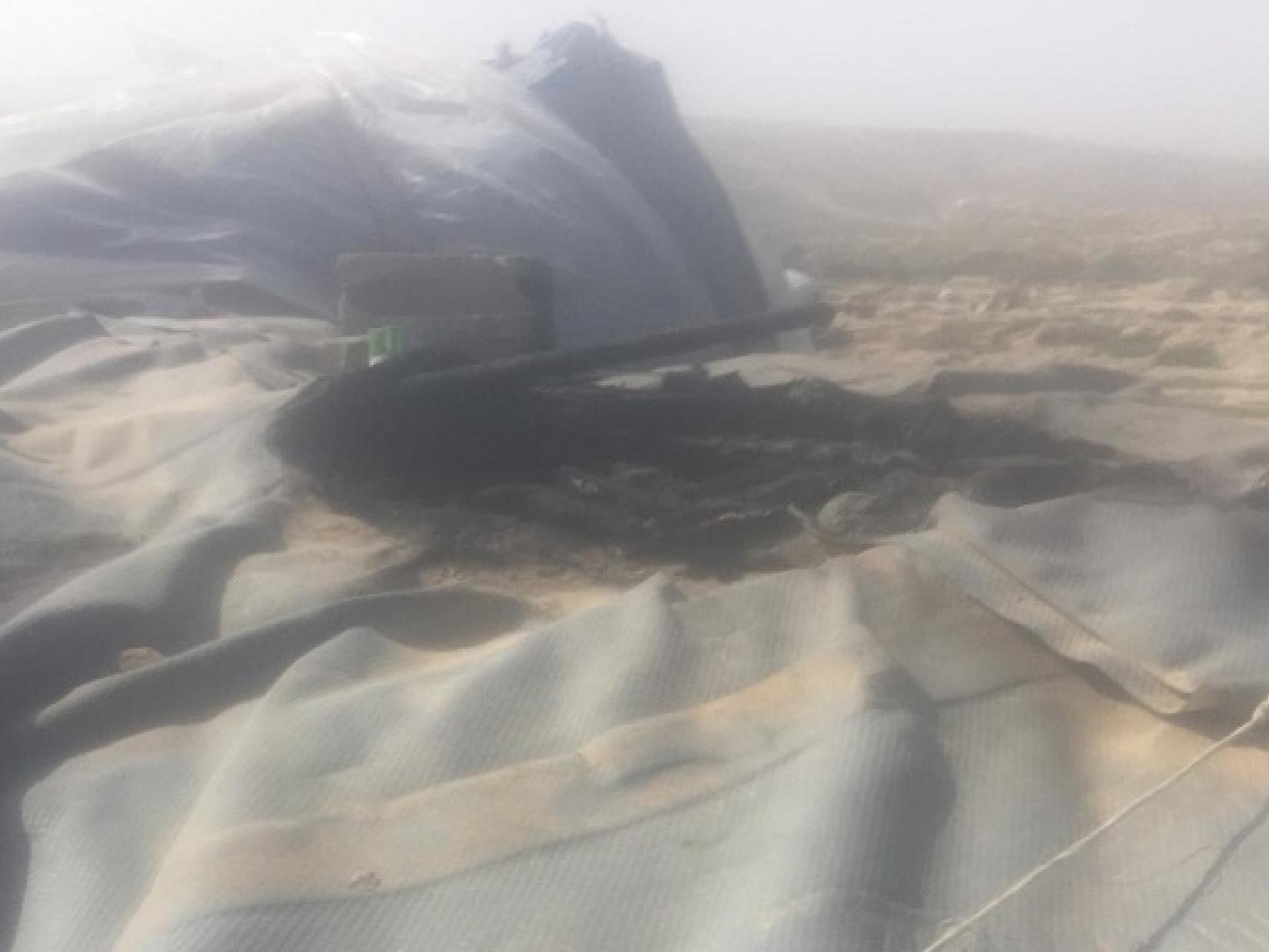 The damage to Azam's taboon