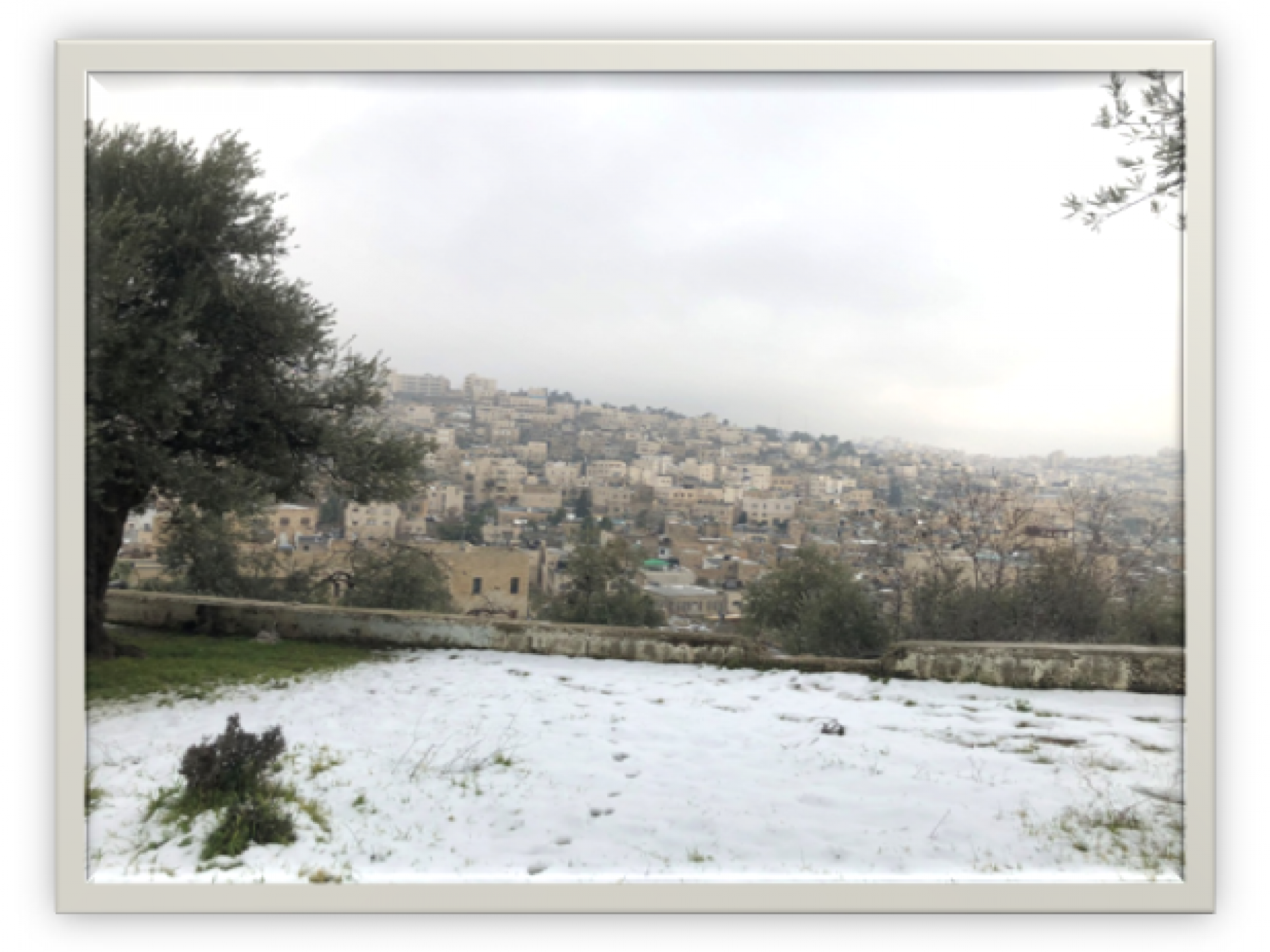 The view from Issa's balcony to Hebron H2