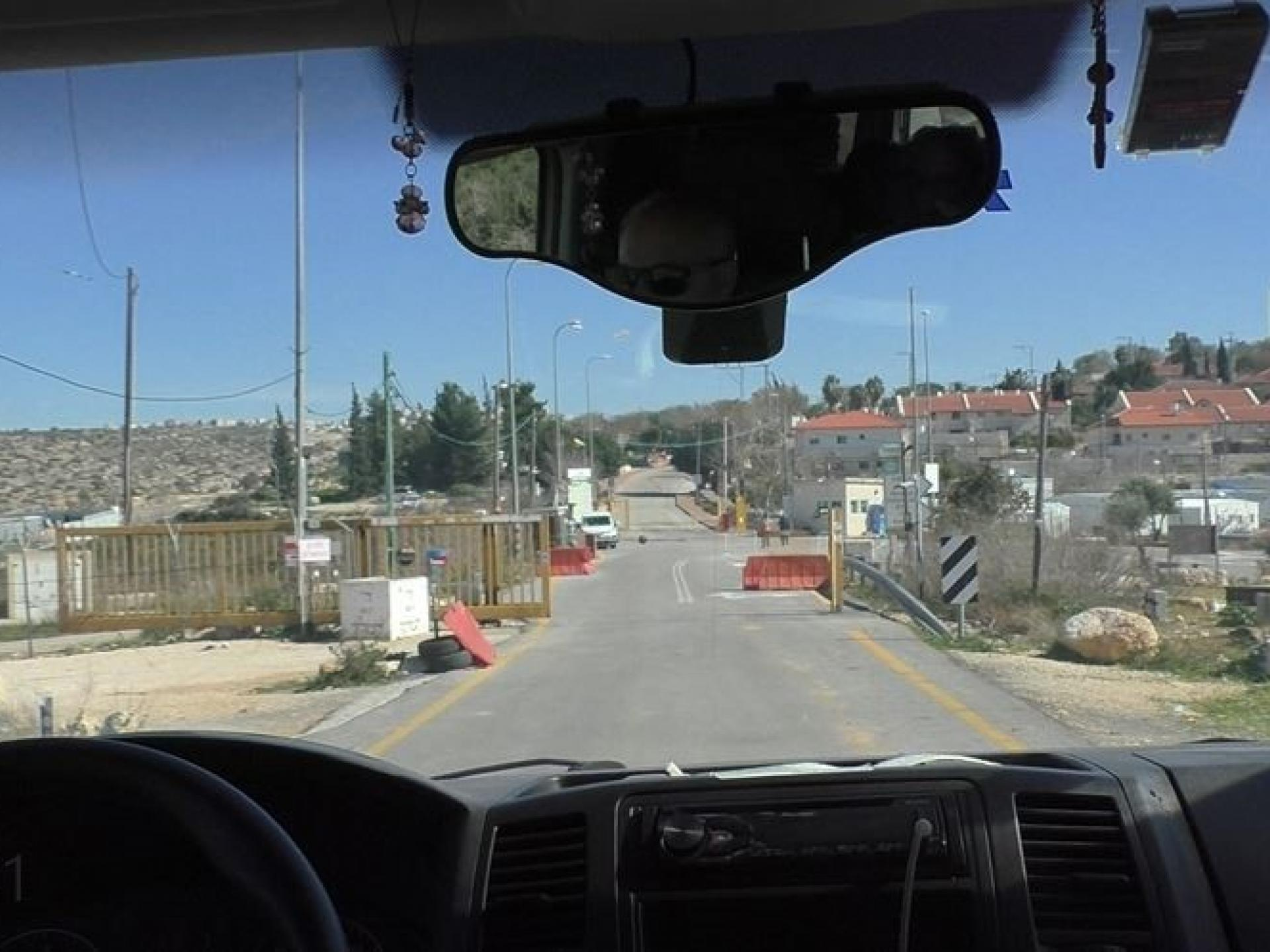 Highway 450: another apartheid checkpoint against Palestinians