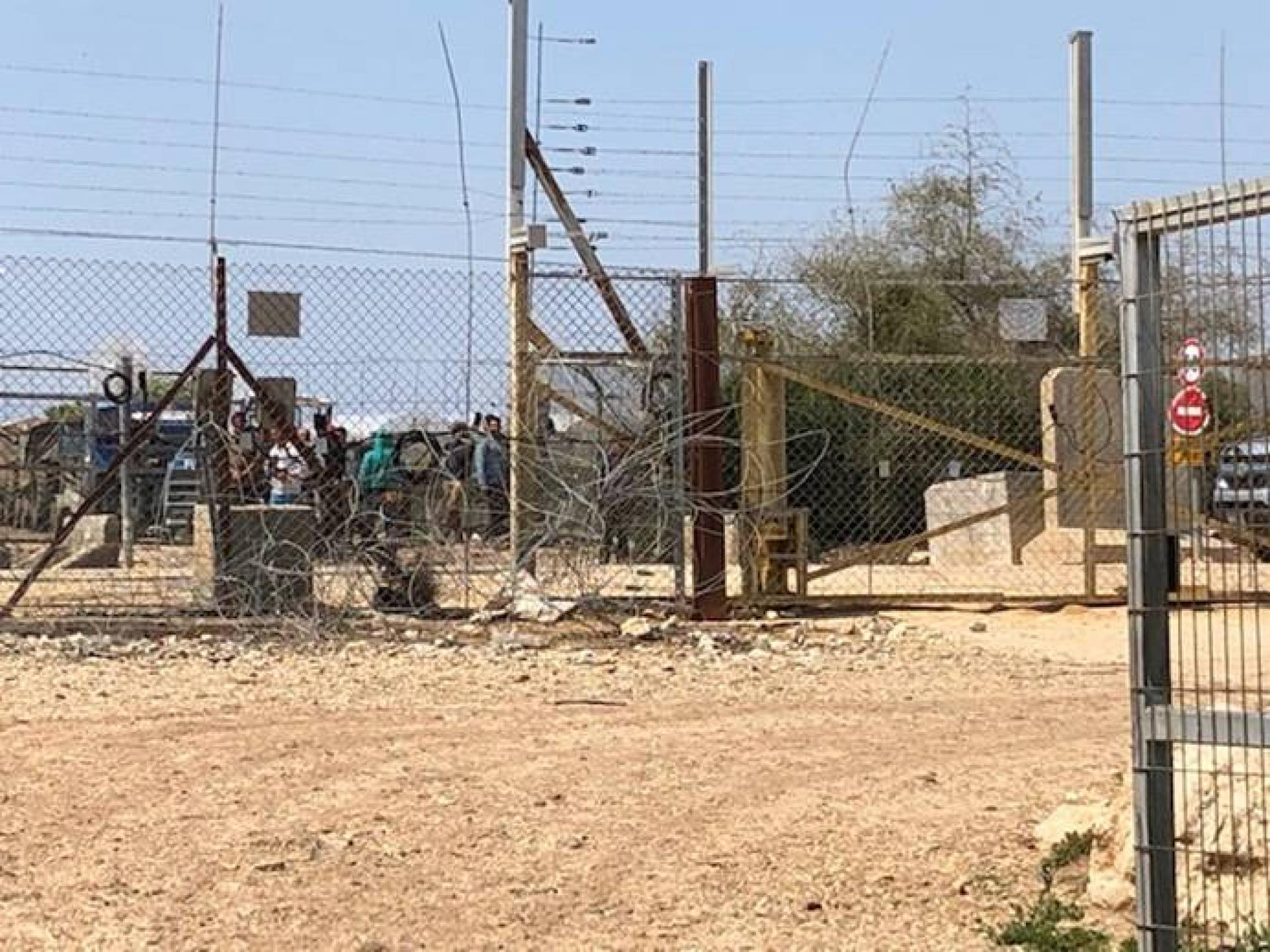 השער במחסום פלאמיה צפון סגור