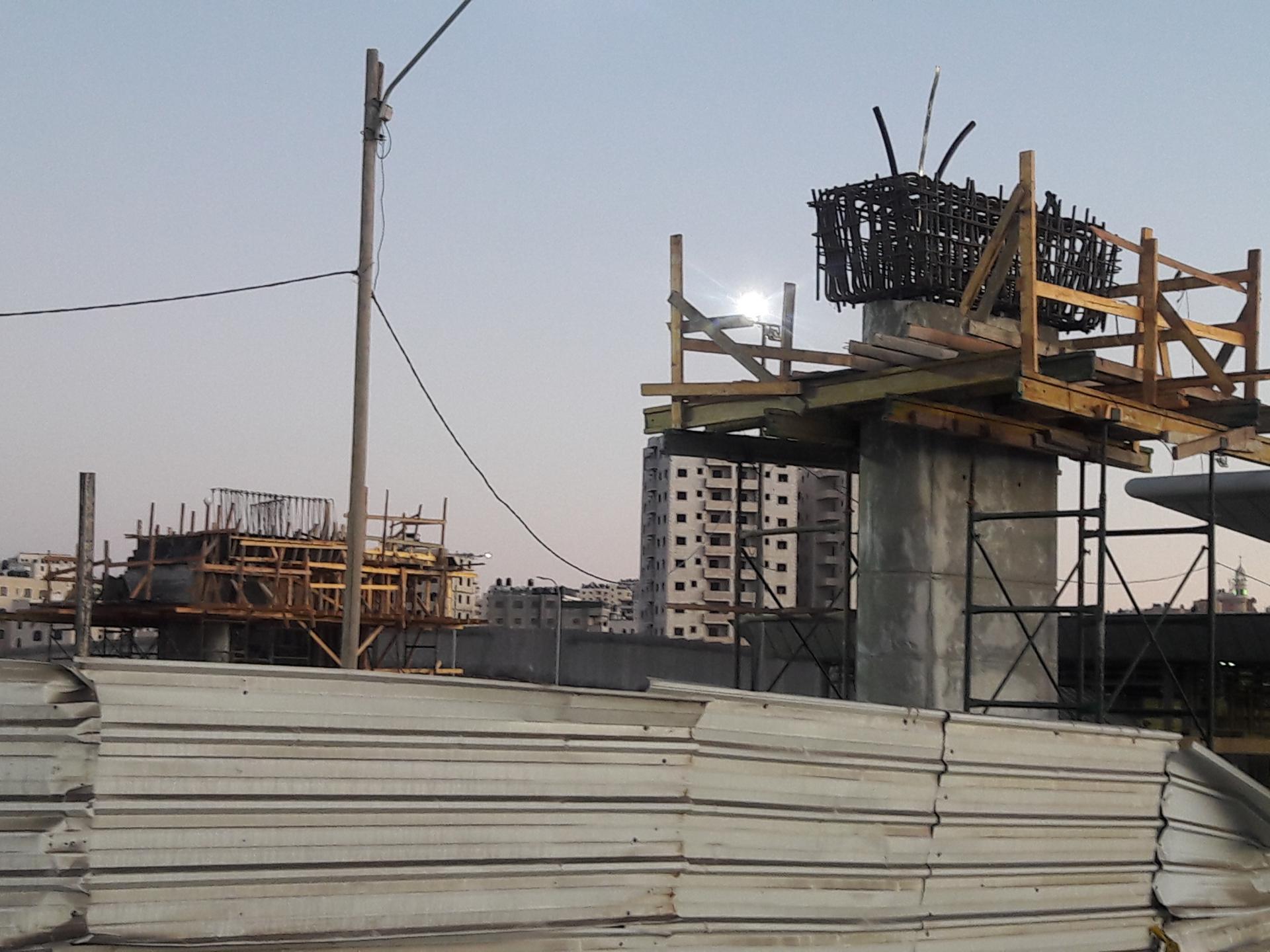 עבודות להכנת גשר בצד הישראלי