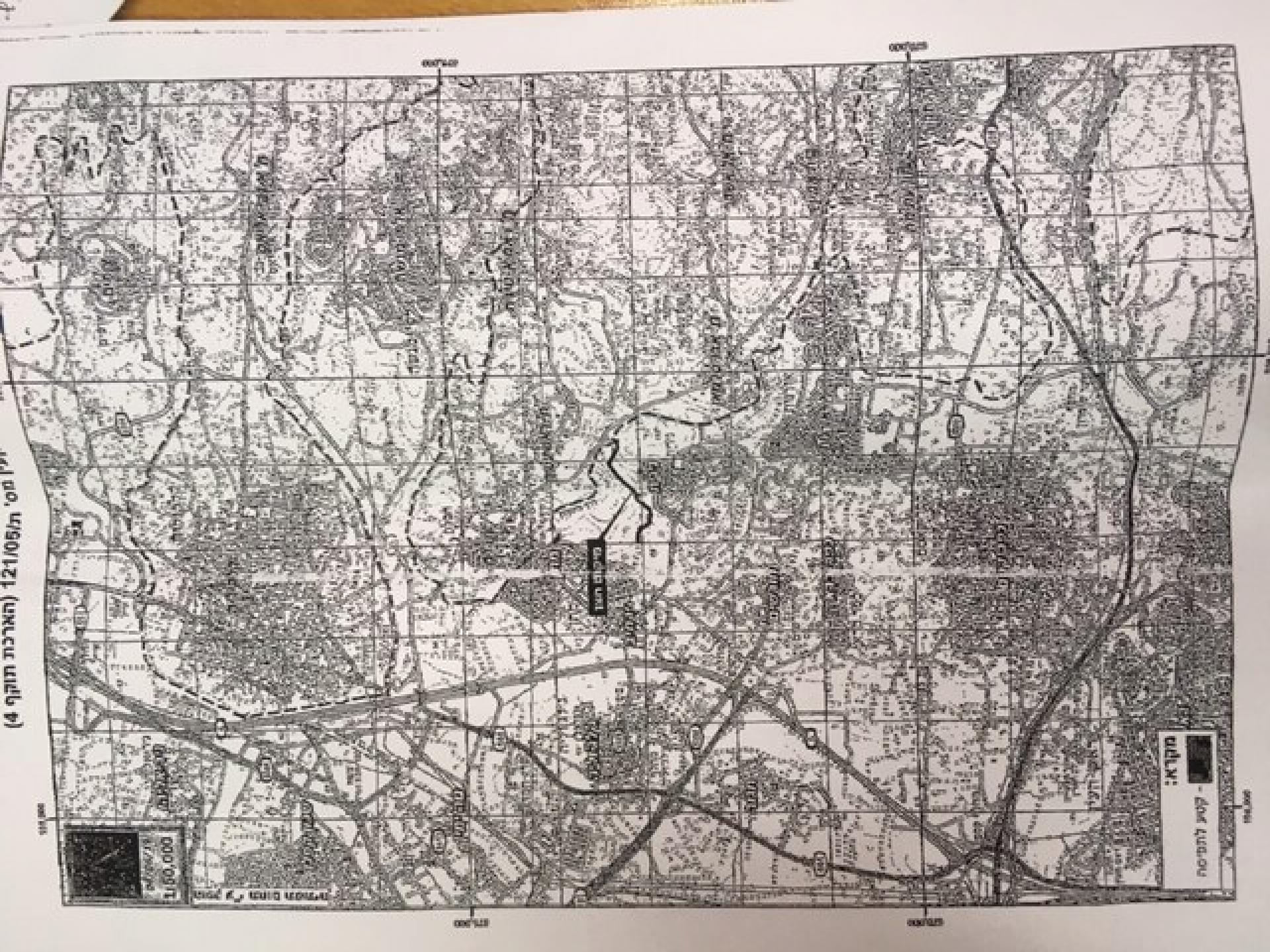 המפה של אזור קלקיליה עם סימון מקום התפיסה שנשלחה בטעות