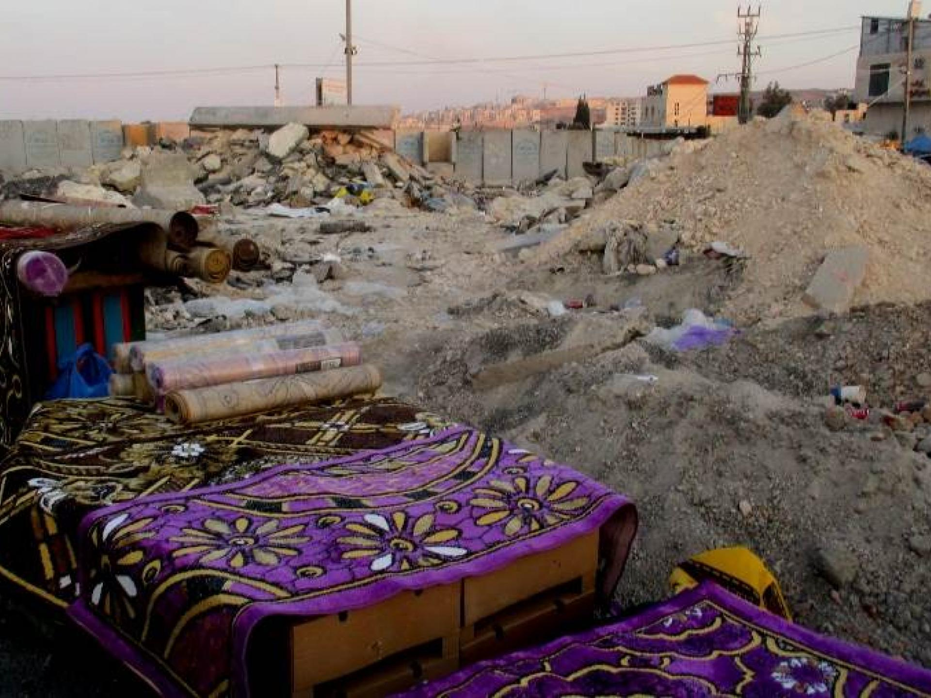 בצד הפלסטיני של המחסום