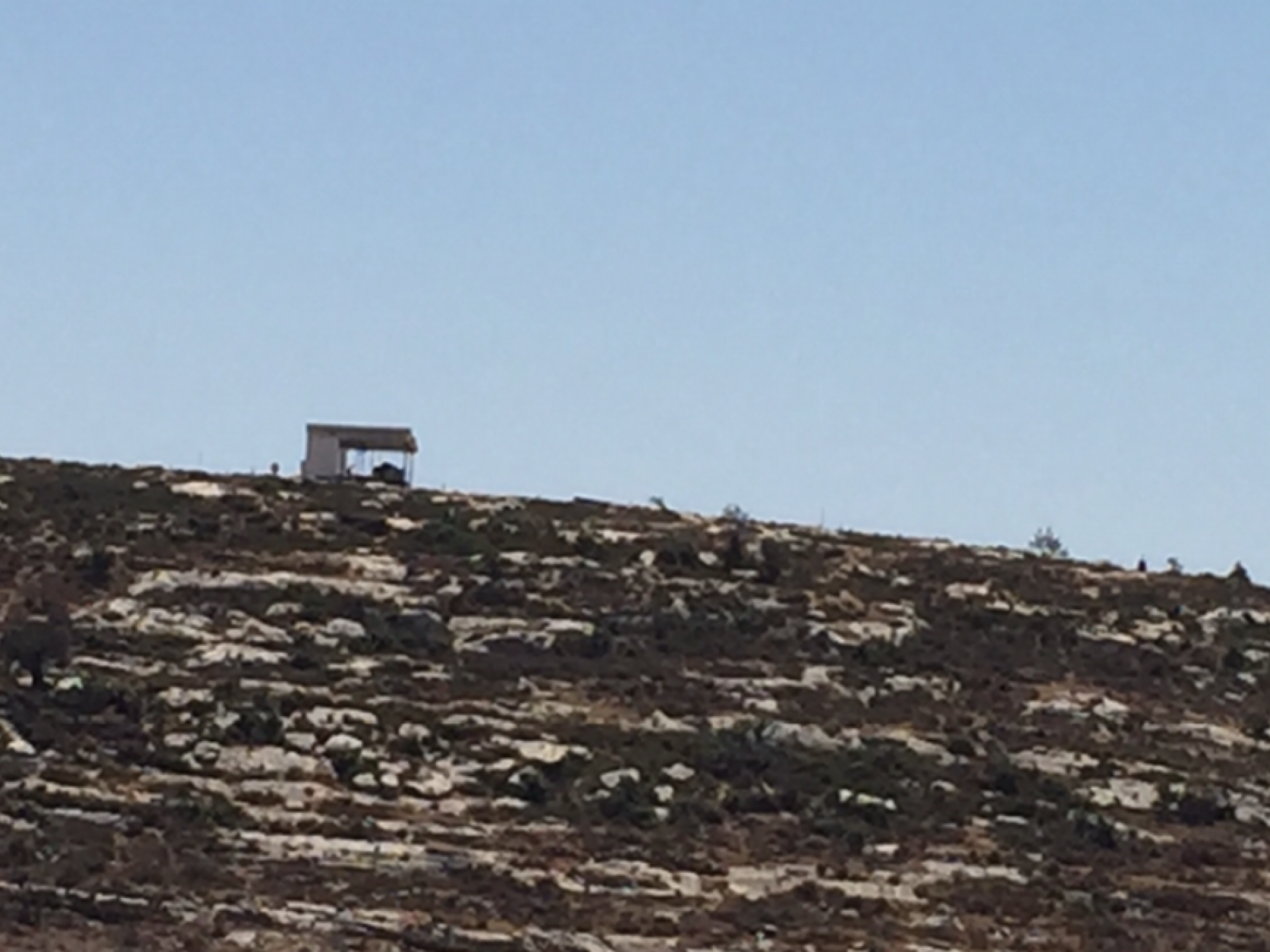 מבנה סככה בראש גבעה