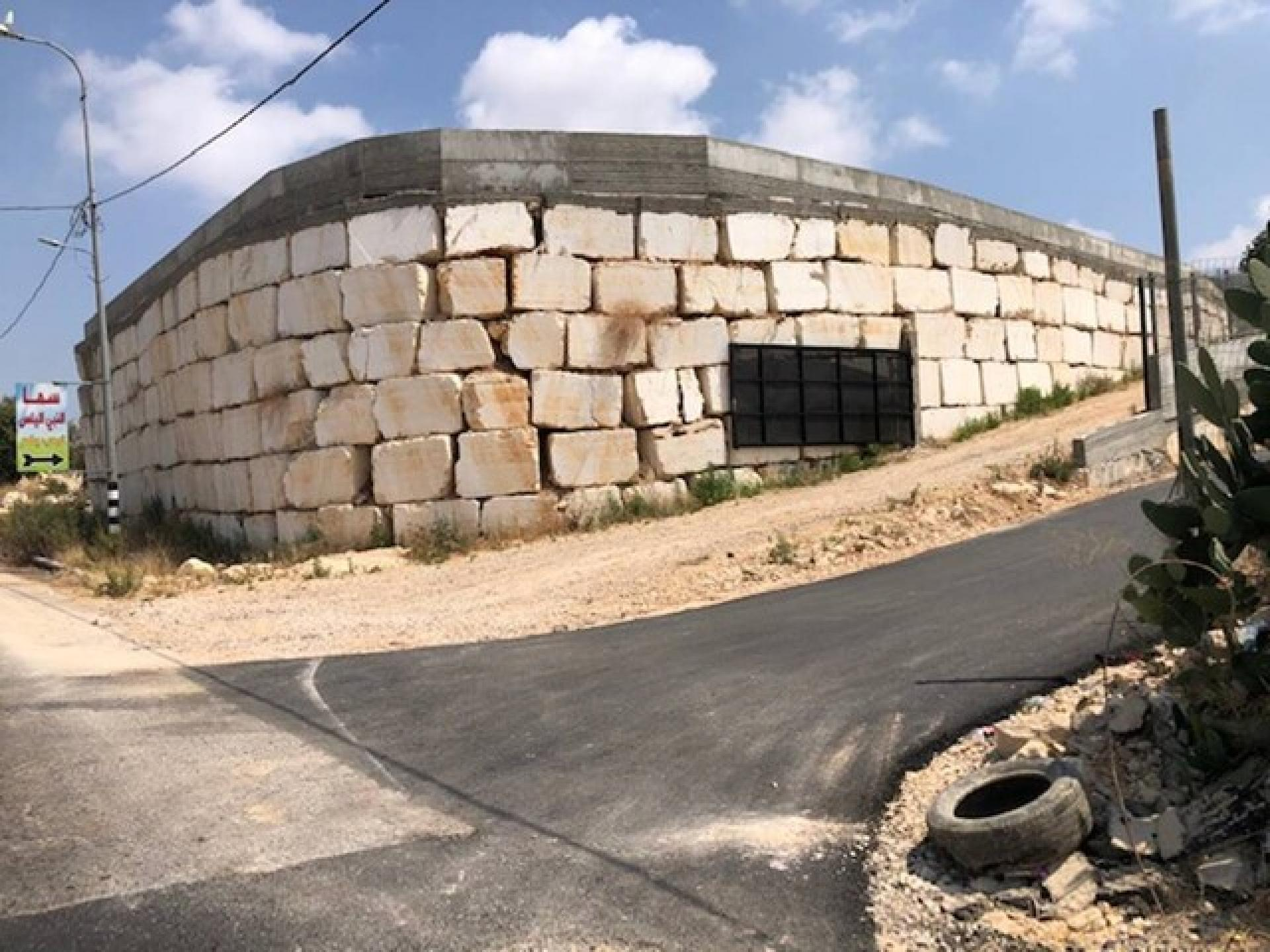 חומה מקיפה את נבי אליאס עילית