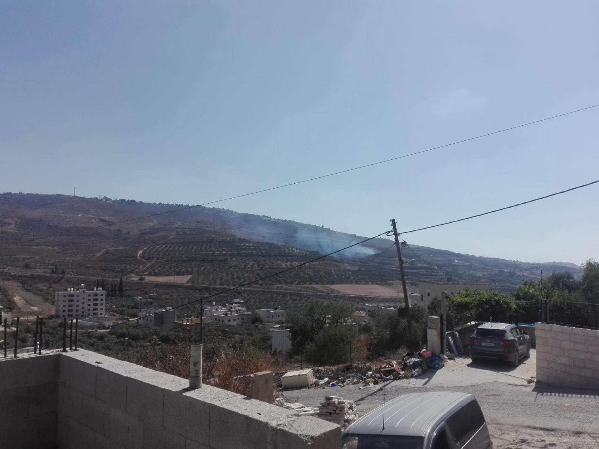 מתנחלים מיצהר הציתו אש בג'בל סלמאן