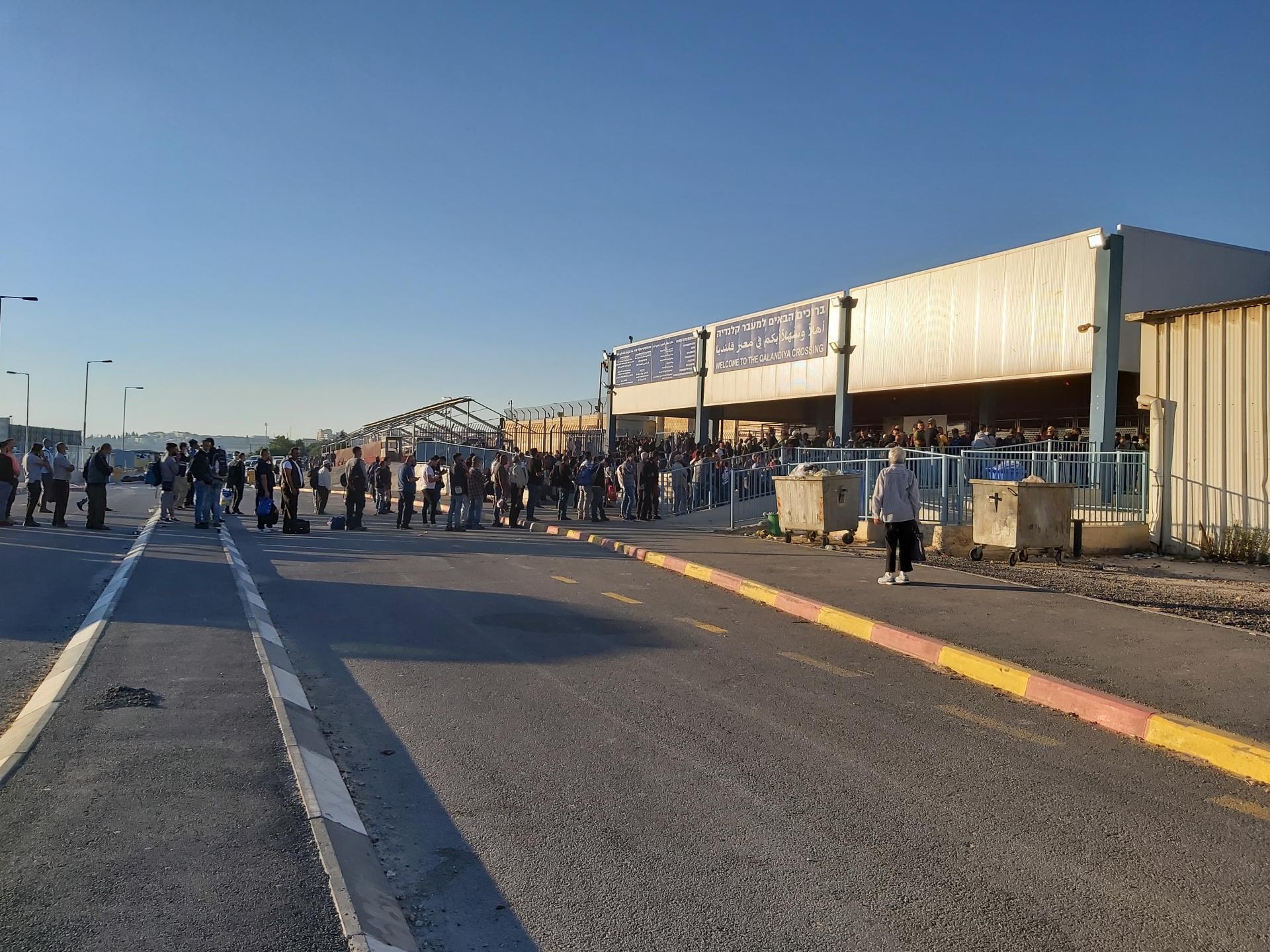 המראה שנגלה לעינינו בצד הפלסטיני