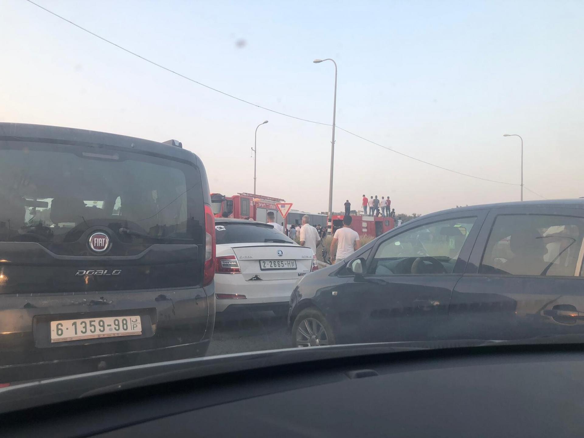 תאונה קשה בכביש מול הכניסה לעזון