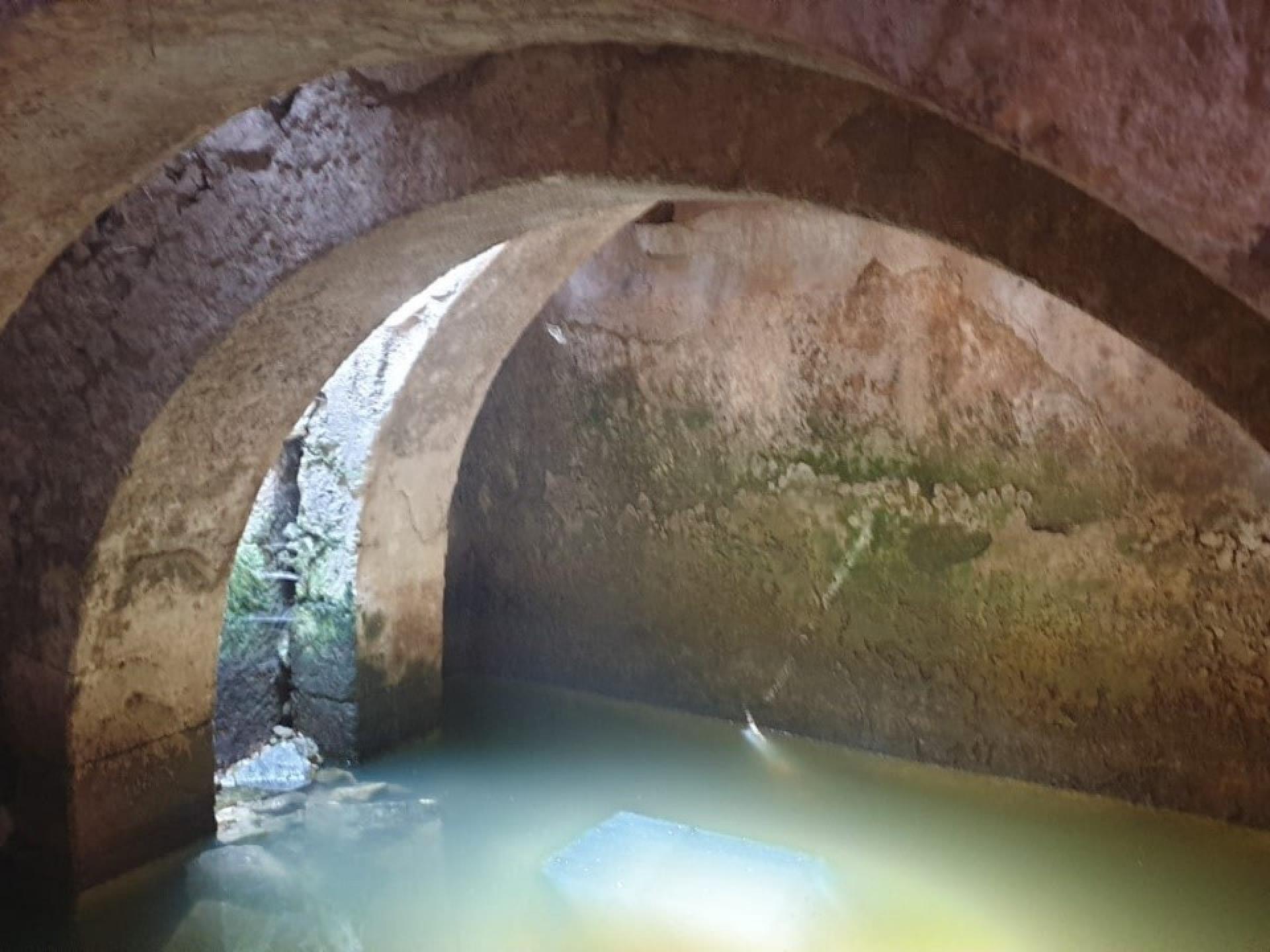 בריכת השקיה באתר דיר סמען שהפכה למקווה