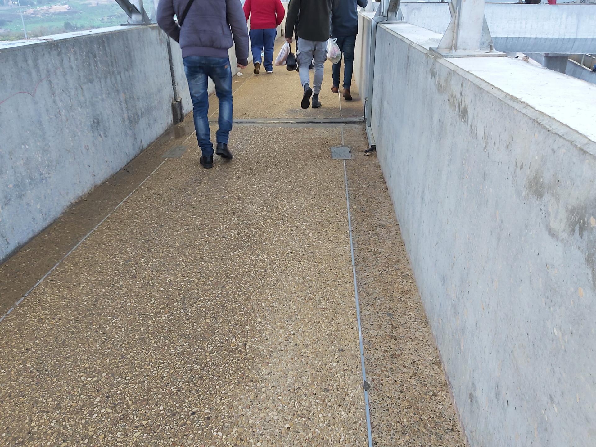 הנשם מרטיב את גשר הולכי הרגל