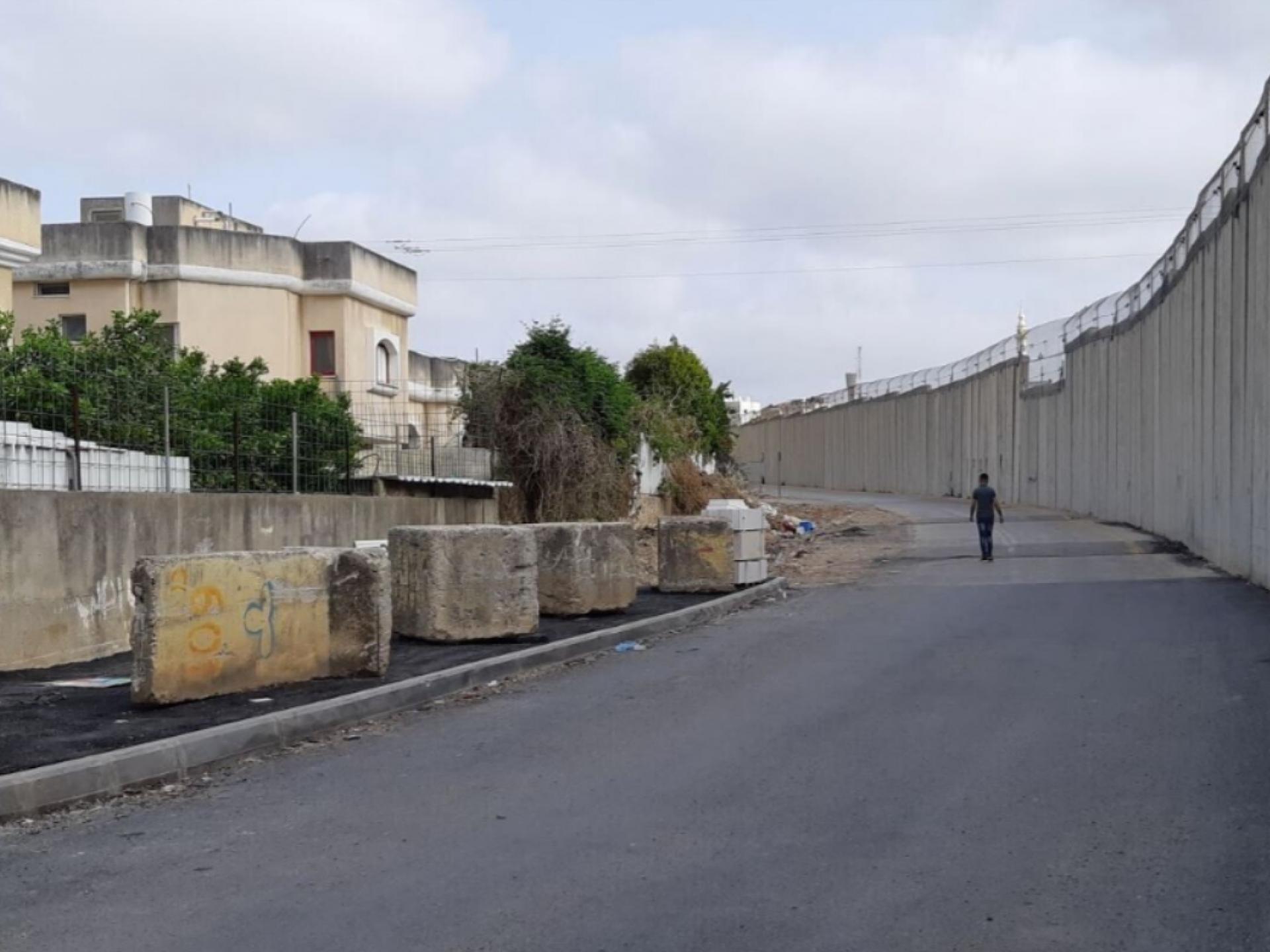 חומה, כביש, שכונת מגוריפם