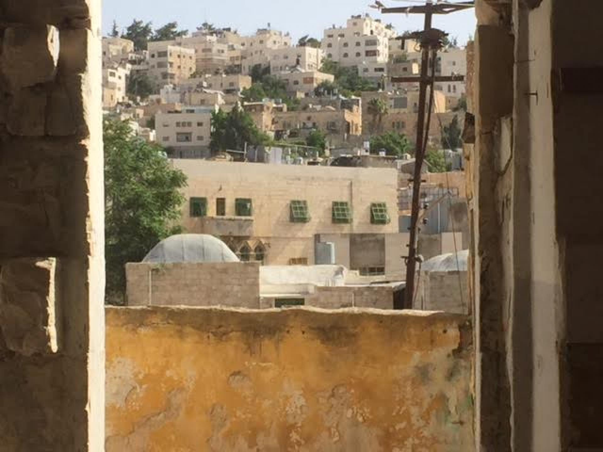 The view from the windows of the building in Hebron