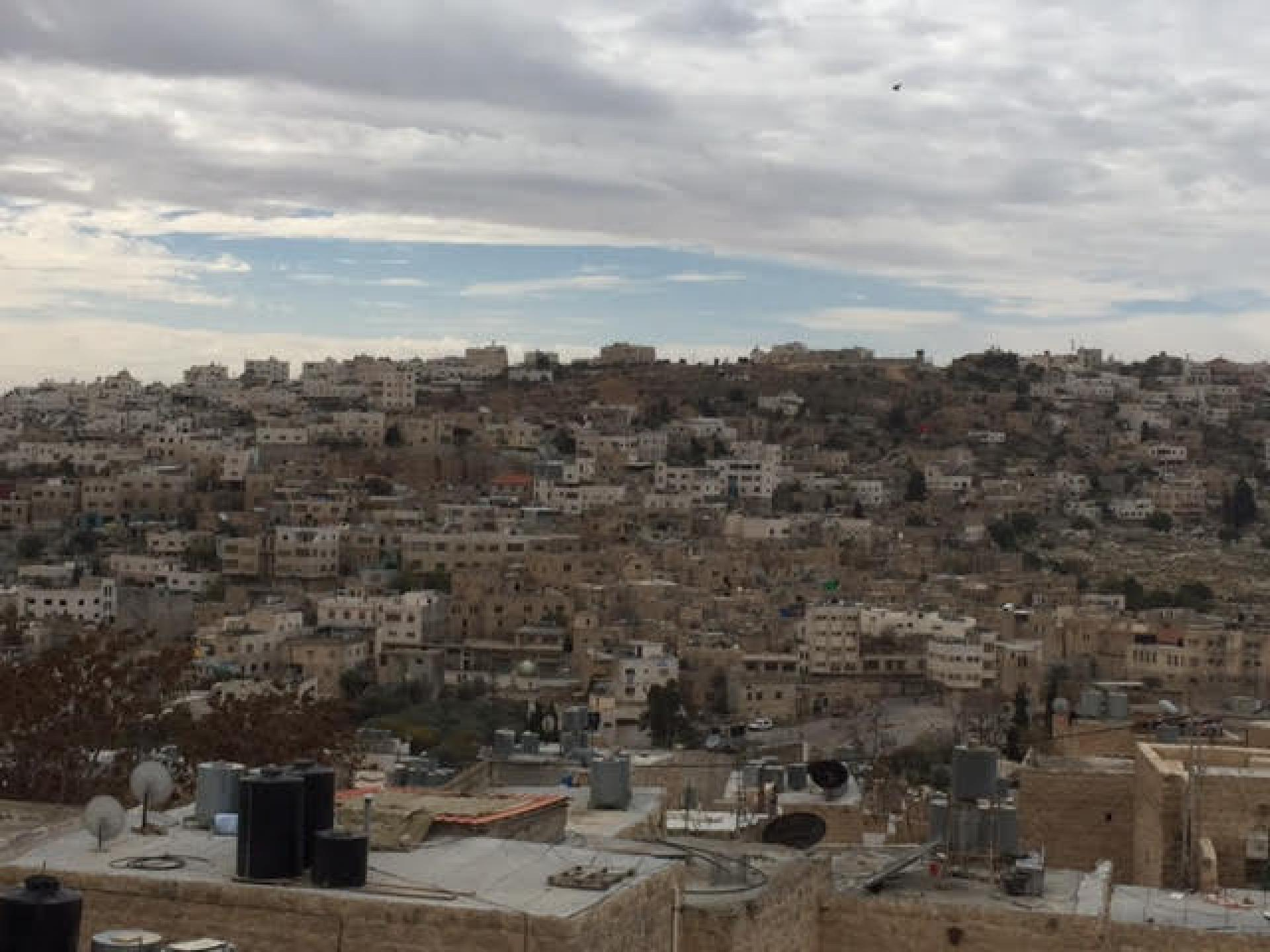 A view of Hebron from the home of Aref
