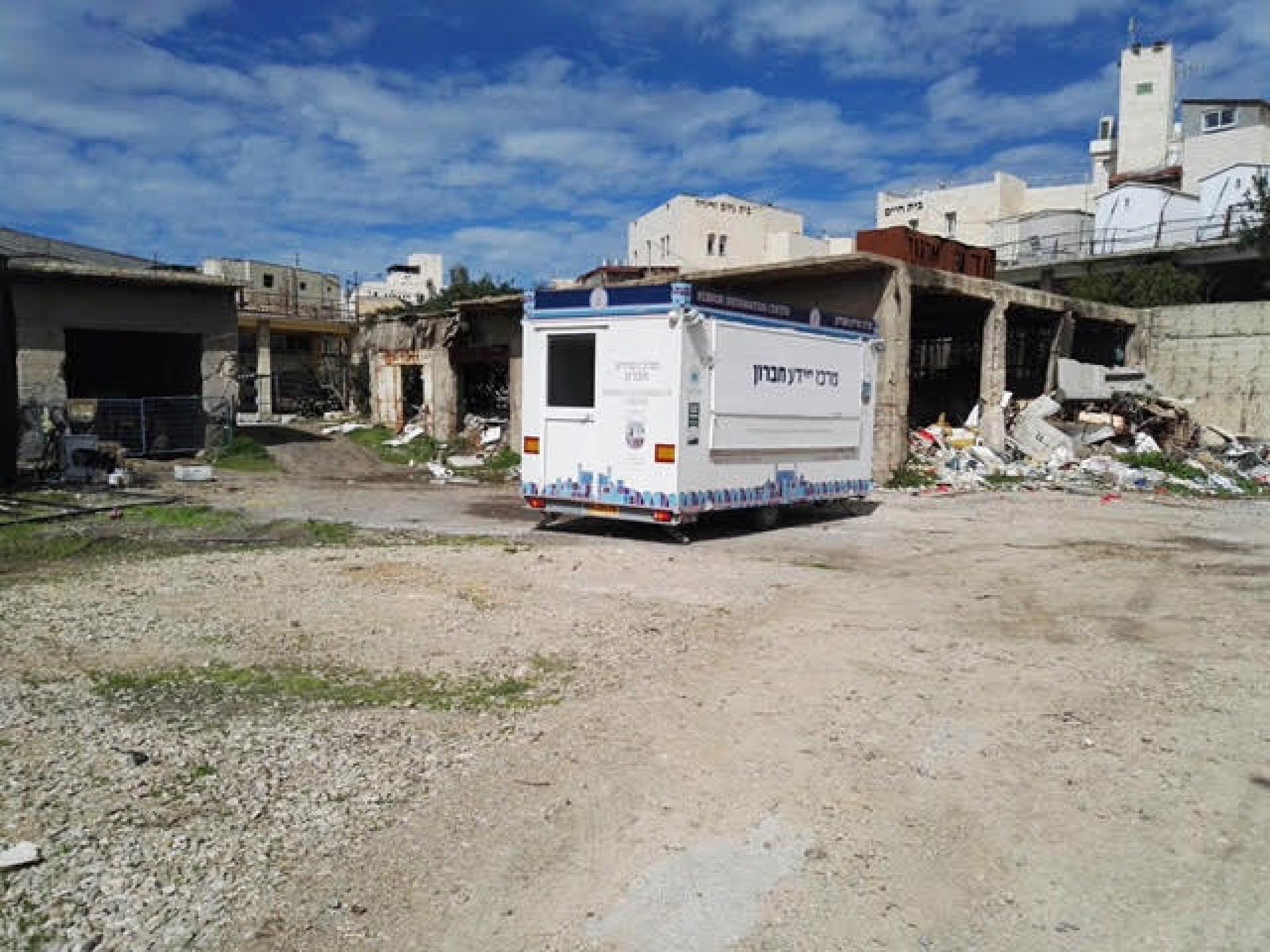 A caravan has been put at the wholesale market