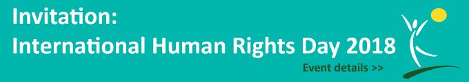 Invitation to International Human Rights 2018 event