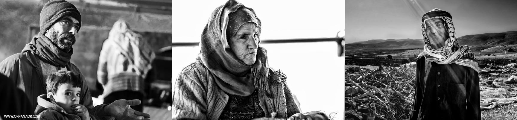 אלה האנשים בבקעת הירדן שחשופים להטרדות התעללות והריסות. צילום: אורנה נאור