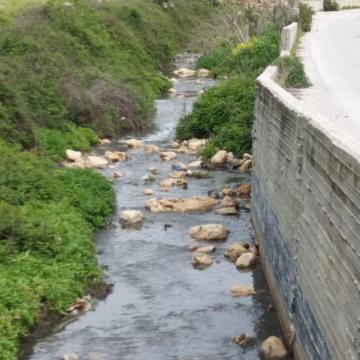 Ariel's sewage flow to the Salfit area