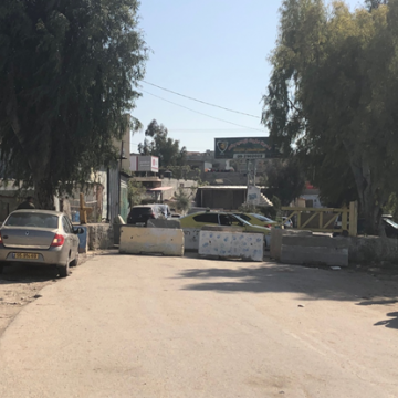 The main entrance to Azoun village: blocked now for several weeks
