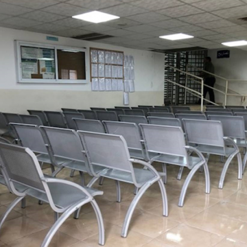 The waiting room at DCO Etzion was completely empty today