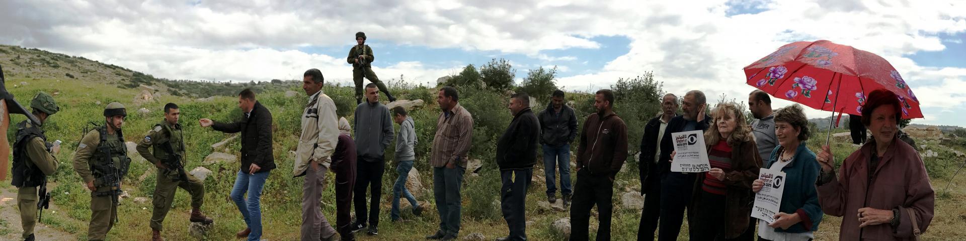הפגנה למען היתר מעבר לעבודה חקלאית בחלקות הפרטיות